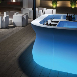 Module d'angle Bar Bartolomeo, Plust, Lumineux LED RGB fil