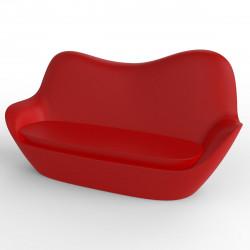 Sofa Sabinas, Vondom rouge, coussins Nautic rouge