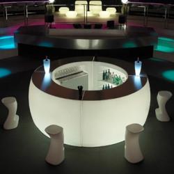 Bar Design Fiesta, module courbe lumineux Leds blancs, Vondom, 160x160xH115cm