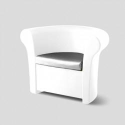 Fauteuil Kalla, Slide Design blanc Mat