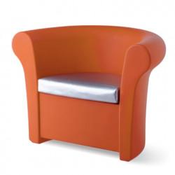 Fauteuil Kalla, Slide Design orange Mat