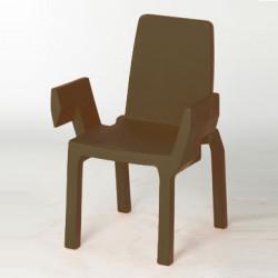 Chaise Doublix, Slide Design chocolat