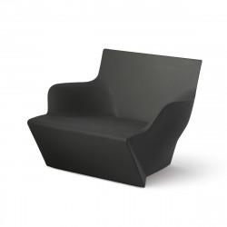 Fauteuil modulable Kami San, Slide Design noir Laqué