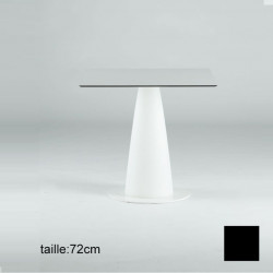 Table carrée Hoplà, Slide noir 69x69xH72 cm