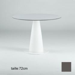 Table ronde Hoplà, Slide design gris D69xH72 cm