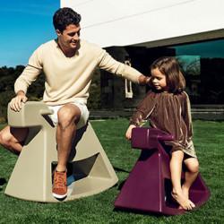 Chaise à bascule Rosinante, Vondom violet Petit modèle