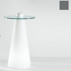 Table de bar Peak, Slide Design gris D80xH80 cm