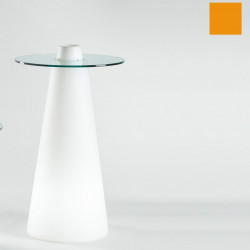 Table de bar Peak, Slide Design orange D70xH120 cm