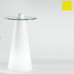 Table de bar Peak, Slide Design jaune D70xH120 cm