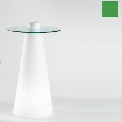 Table de bar Peak, Slide Design vert D70xH120 cm