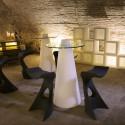 Table de bar Peak, Slide Design blanc D80xH120 cm