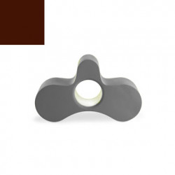 Fauteuil/ table basse Wheely, Slide Design chocolat