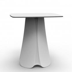 Table design Pezzettina, Vondom blanc 90x90xH72 cm