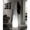 Porte-manteau arbre design Godot, Plust Collection blanc, embouts gris Mat