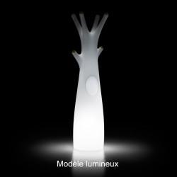 Porte-manteau arbre design Godot, Plust Collection blanc, embouts gris Lumineux à ampoule