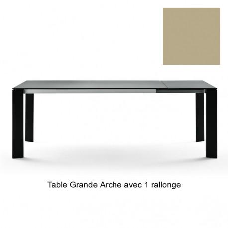 Table Grande Arche avec 1 rallonge, Fast or perlé Longueur 220/270 cm