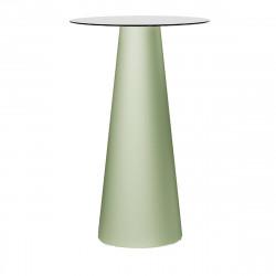 Mange debout design Fura rond, Plust Collection base romarin, plateau blanc