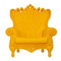 Fauteuil Trône Queen of Love, Design of Love by Slide jaune