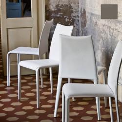 Chaise design Miss, Midj gris foncé