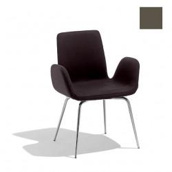 Chaise design Light B, Midj gris foncé