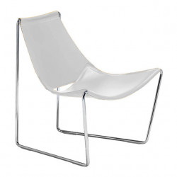 Chaise lounge Apelle AT, Midj blanc