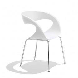 Chaise design Raff pieds simples, Midj blanc