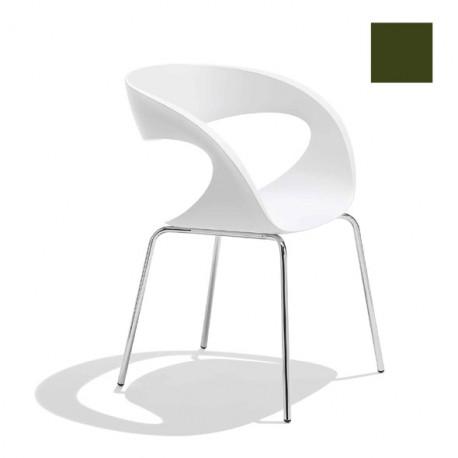 Chaise design Raff pieds simples, Midj vert olive