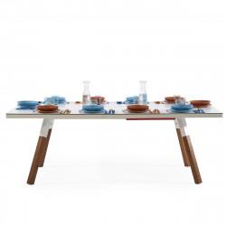 Table à manger ou Table de ping pong You & Me, RS Barcelona blanc 274x152,5 cm