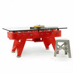 Table à manger baby foot rectangulaire, RS Barcelona rouge Hauteur 76 cm