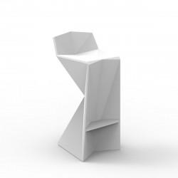 Tabouret design Vertex, Vondom blanc Mat