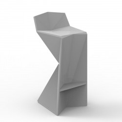 Tabouret design Vertex, Vondom acier Mat