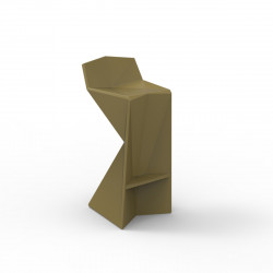 Tabouret design Vertex, Vondom kaki Laqué