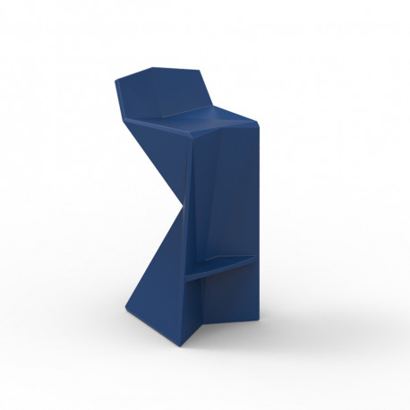 Tabouret design Vertex, Vondom bleu Laqué