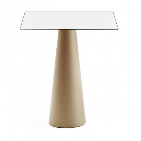 Mange debout design Fura carré, Plust Collection base sable, plateau blanc