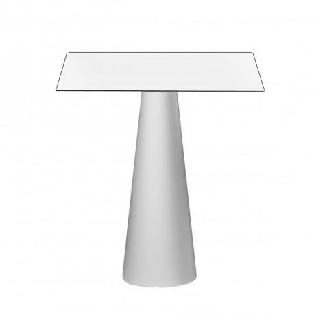 Mange debout design Fura carré, Plust Collection base blanche, plateau blanc