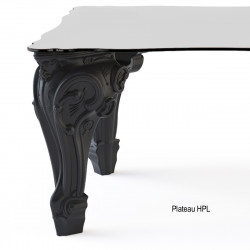 Table Sir of Love, Design of Love by Slide noir Longueur 200 cm