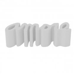 Banc Amore, Slide Design blanc Laqué