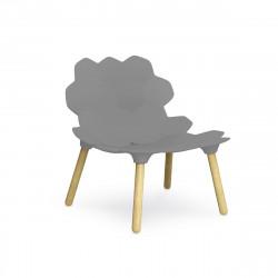 Chaise lounge design Tarta, Slide Design argent laqué mat