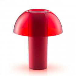 Lampe de table Colette, Pedrali rouge transparent Taille L