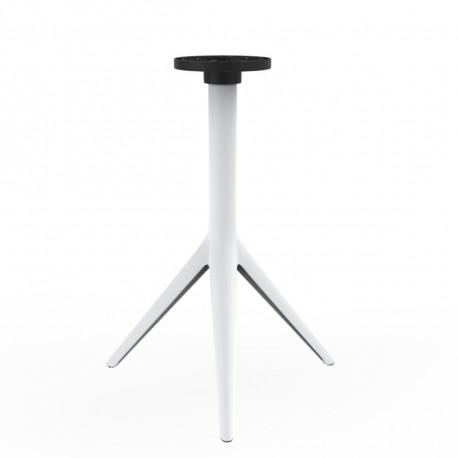 Pied de table Mari-Sol, H 73 cm pour petits plateaux, Vondom blanc Basculant, H73 cm