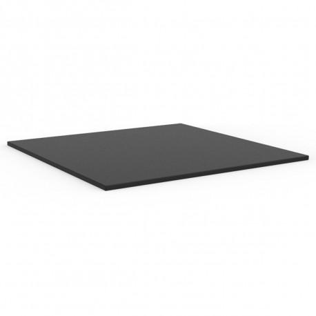 Plateau de table carré Mari-Sol ,Vondom noir,bordure noir 69x69 cm