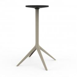 Pied de table Mari-Sol, H105 cm pour grands plateaux, Vondom ecru Fixe, H73 cm