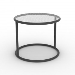 Table basse Kes, Vondom anthracite Diamètre 55 cm