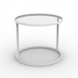 Table basse Kes, Vondom blanc Diamètre 55 cm