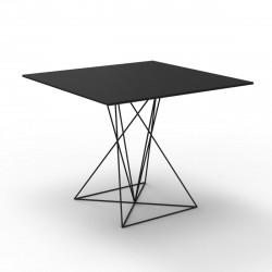 Table Faz inox, Vondom noir 90x90xH72 cm