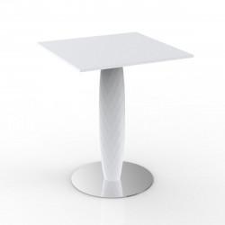 Table carrée Vases, Vondom blanc 60x60 cm