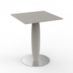 Table carrée Vases, Vondom ecru 60x60 cm