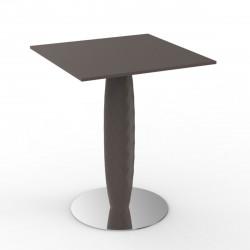 Table carrée Vases, Vondom bronze 60x60 cm