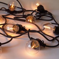 Guirlande lumineuse Bella Vista Clear à LED, Seletti noir