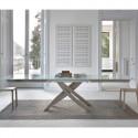 Table Sculptura en verre Extrawhite brillant 180x106 cm